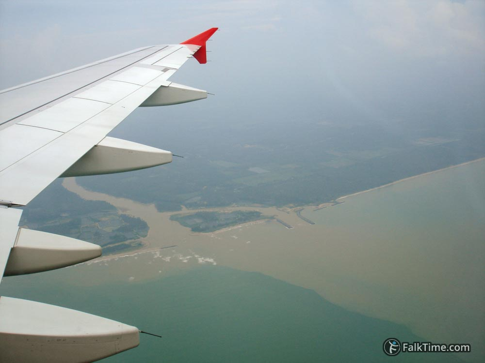 Wing of AirAsia airplane
