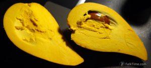 Egg fruit inside, pulp & seeds
