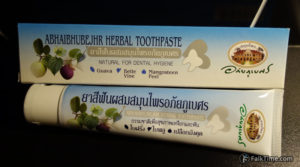 Toothpaste with mangosteen rind