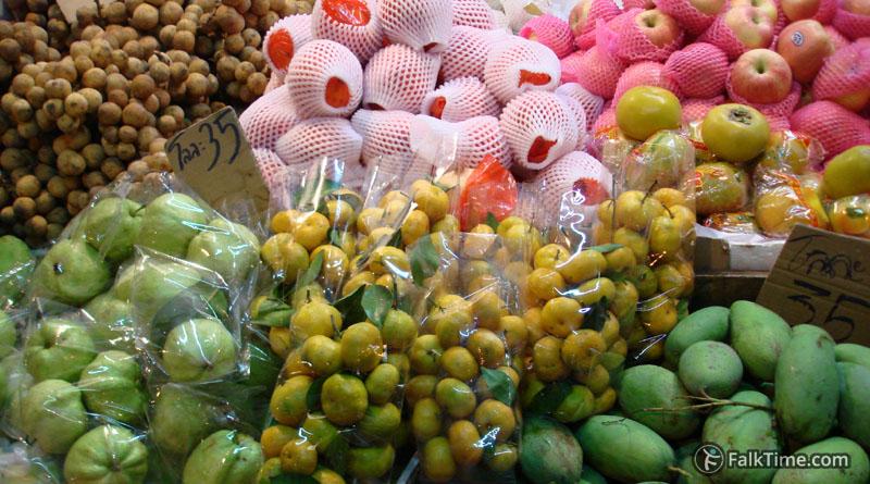 Langsat among fruits in hypermarket