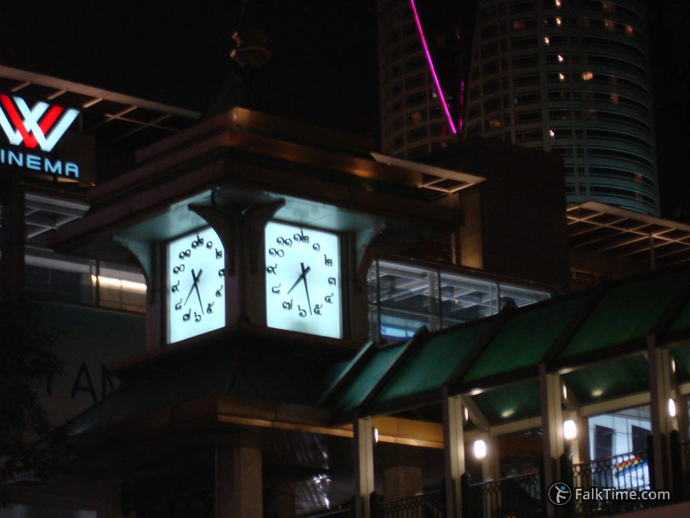 Clock with Thai digits