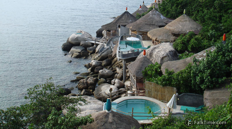 Picturesque hotel at Koh Tao