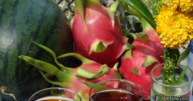 Dragon fruit as an offering