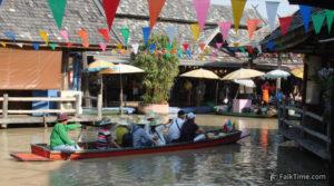 Boat at Pattaya floating market