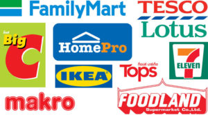 Logos of hypermarkets & supermarkets of Thailand