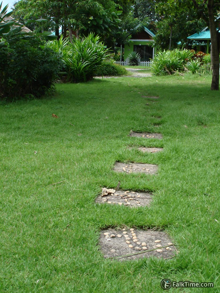 Path to a bungalow