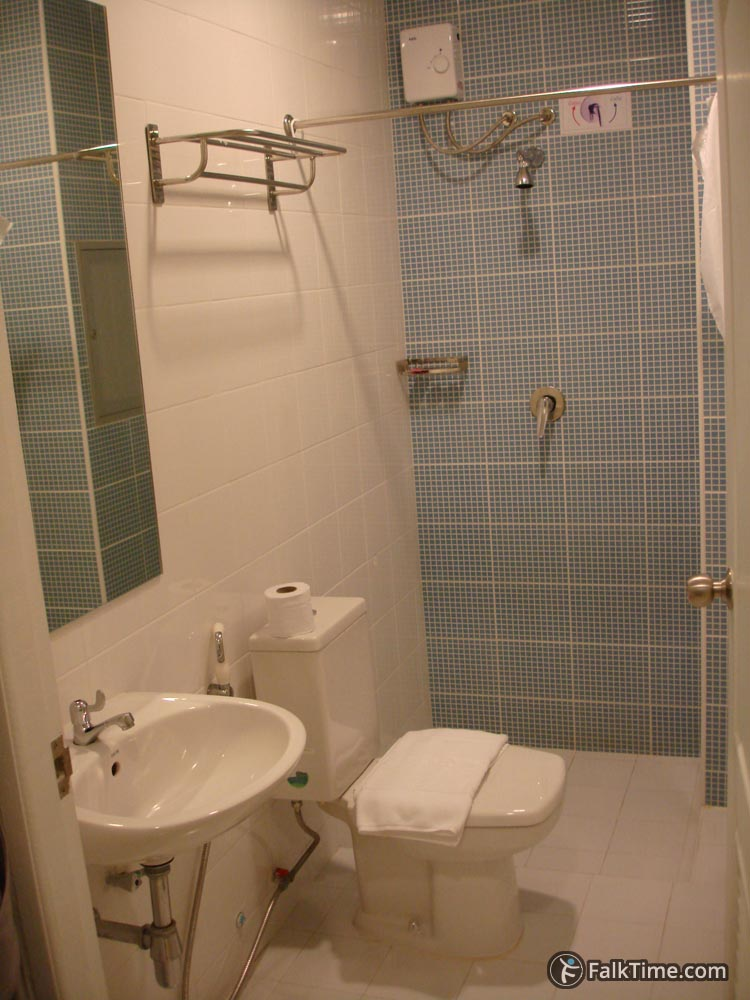 Typical bathroom in Thai hotel