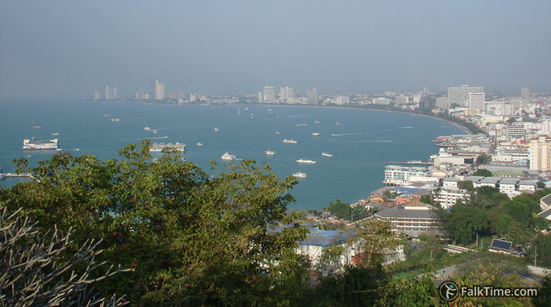 The famous view to Pattaya
