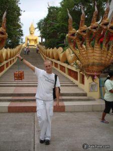 Naga stairway, big Buddha and me