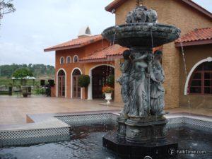 Italian-style fountain