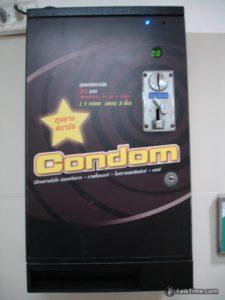 Condom machine