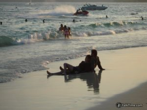 Thai couple at the beach