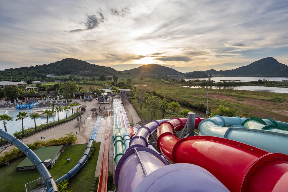 Every high point in water park is a viewpoint