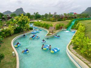 Lazy river in Ramayana aquapark