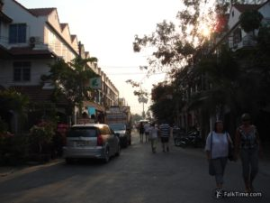 Typical small street of Pattaya