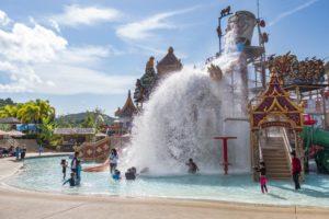 Children water playground