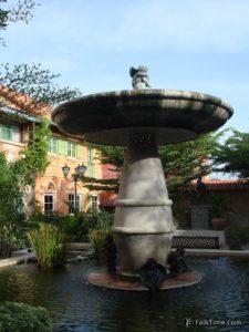 Fountain in Holland Tulip resort
