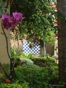 Little fountain in Holland Tulip resort