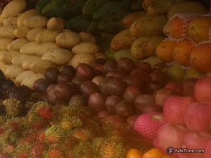Passion fruit in a market