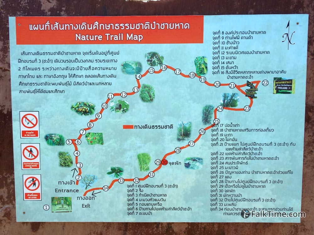 Map of nature trail