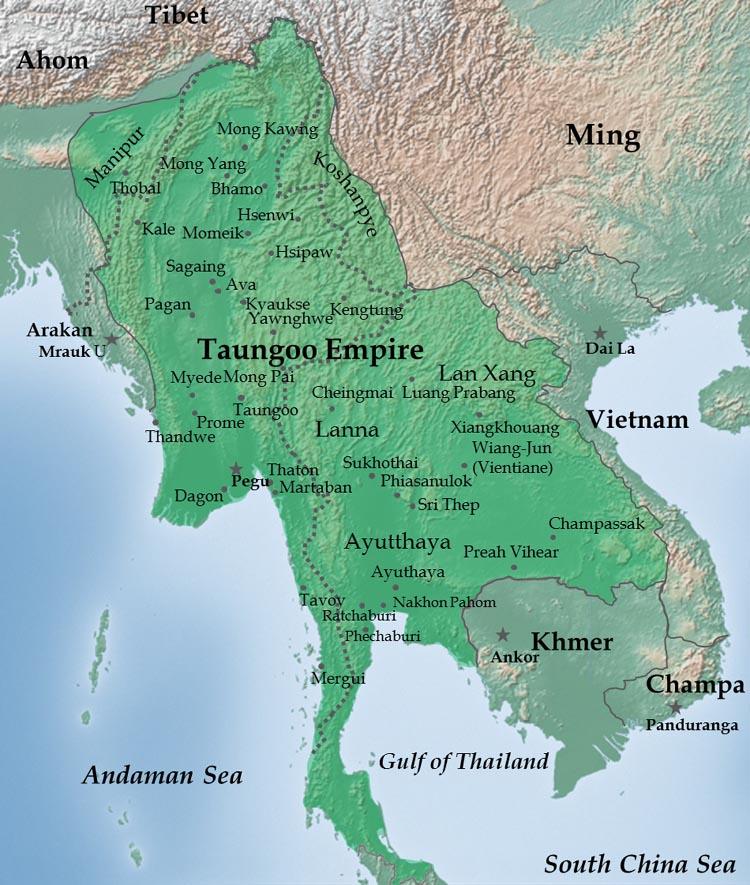 Burma empire in 1580