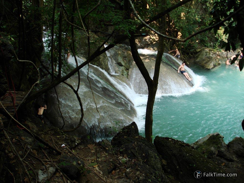 Fourth level of Erawan waterfall
