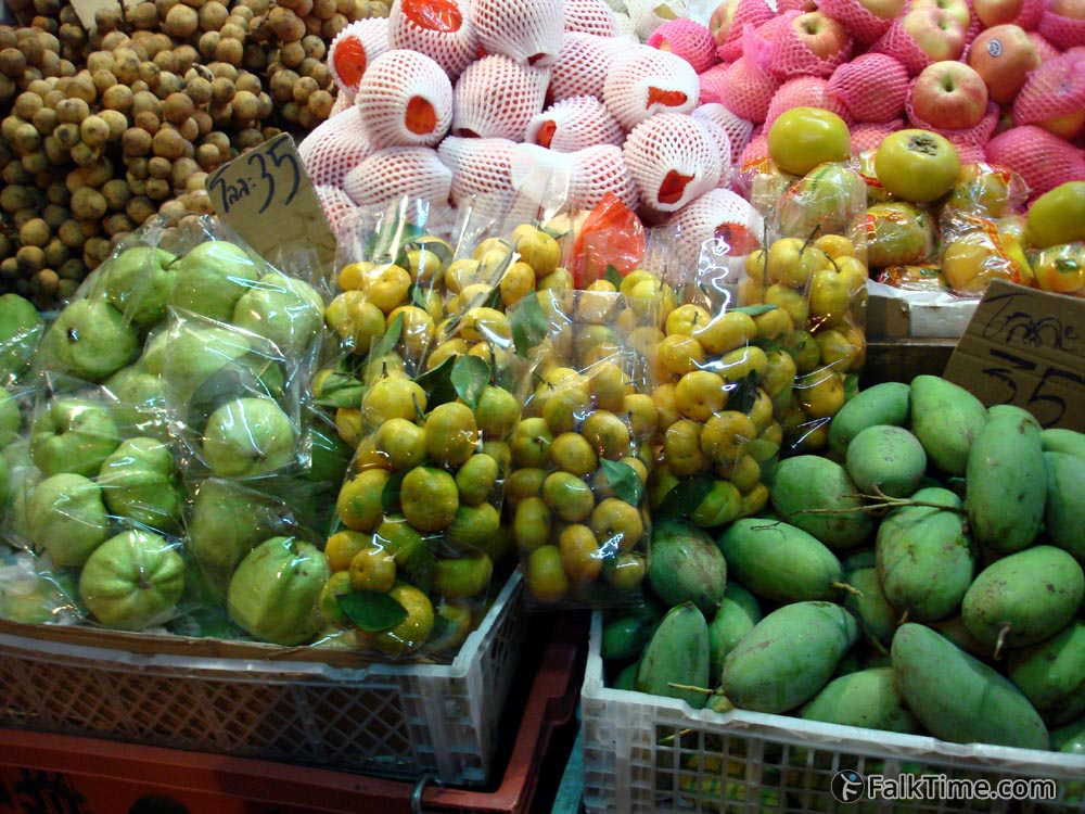 Guava and other fruits at fruit market
